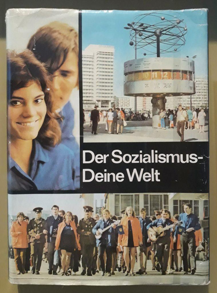 Socialist propaganda poster at DDR museum