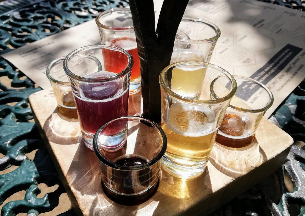 Anvil Ale Brewery tasting flight