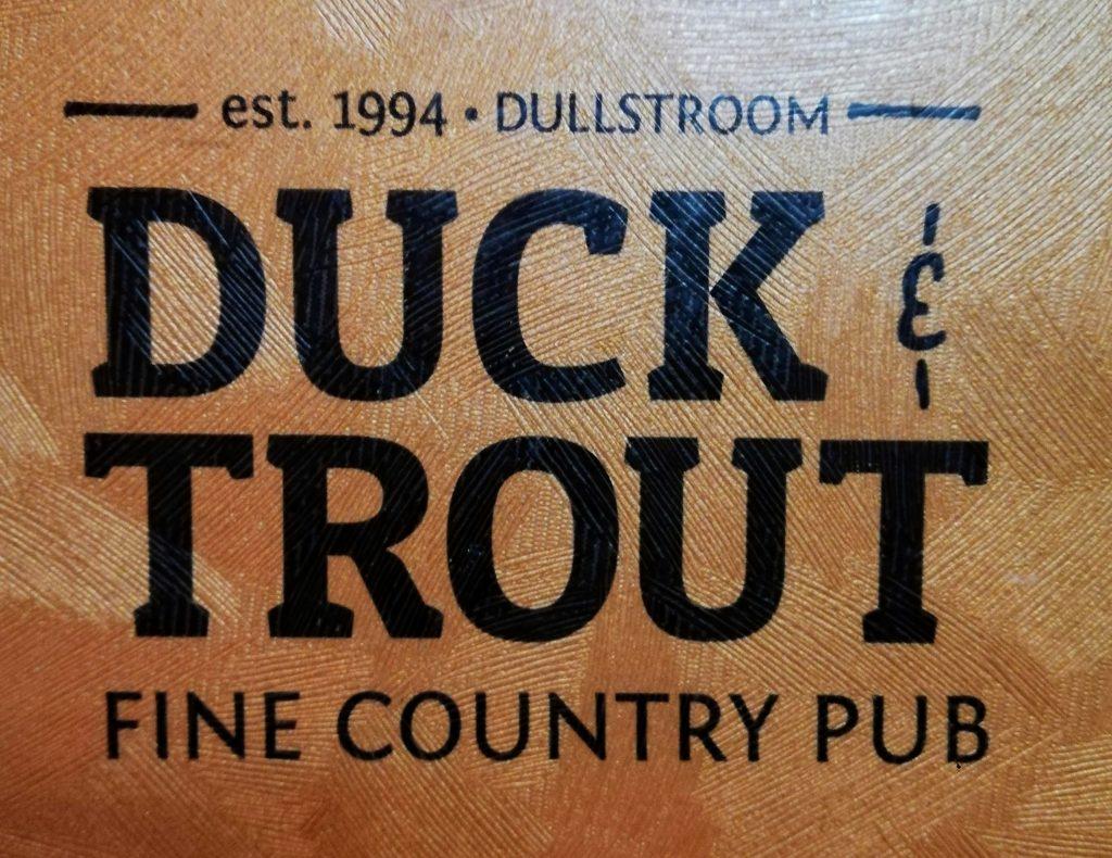 Duck & Trout pub menu