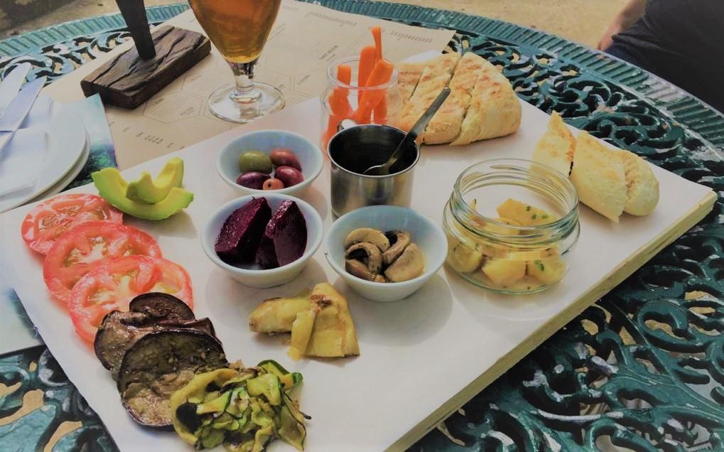 Vegan platter at Anvil Ale Brewery