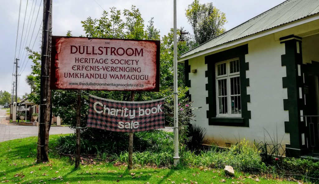 Charity book sale at Dullstroom Museum