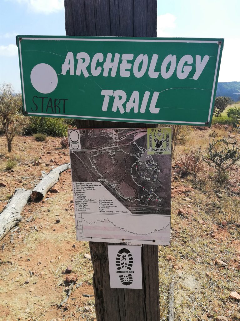 Archeology trail head at Windy Brow