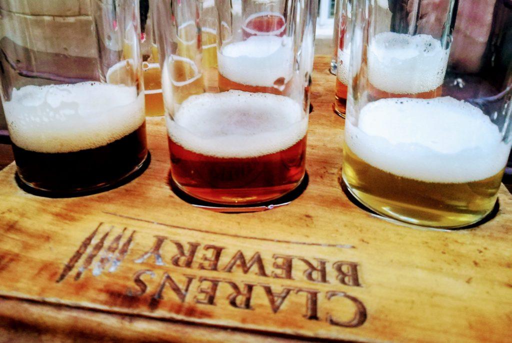 Beer Tasting Flight Clarens Brewery