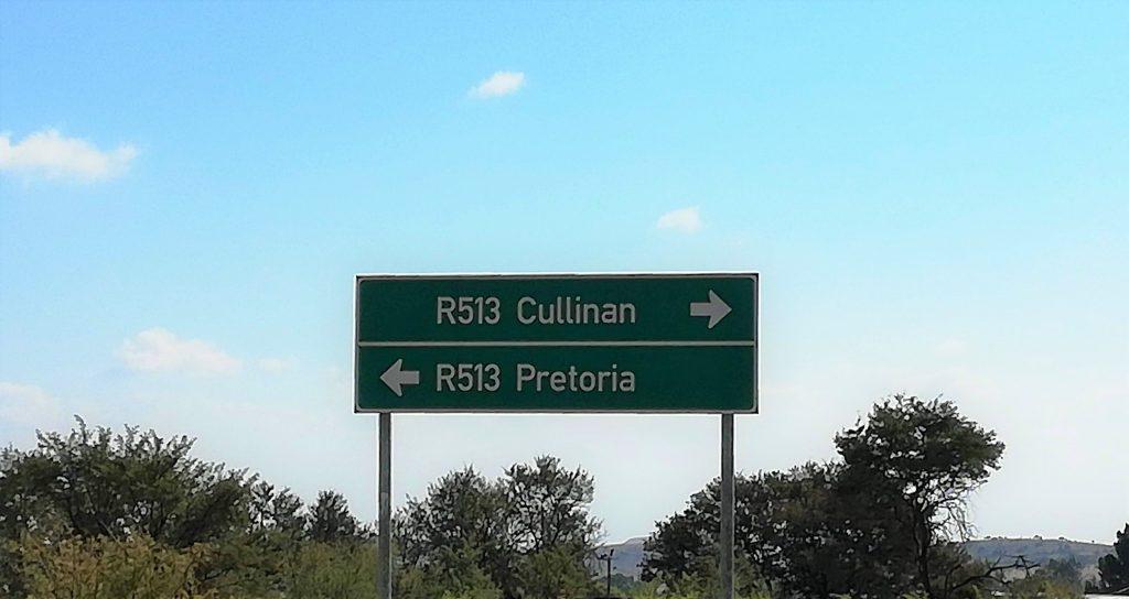 Cullinan sign post