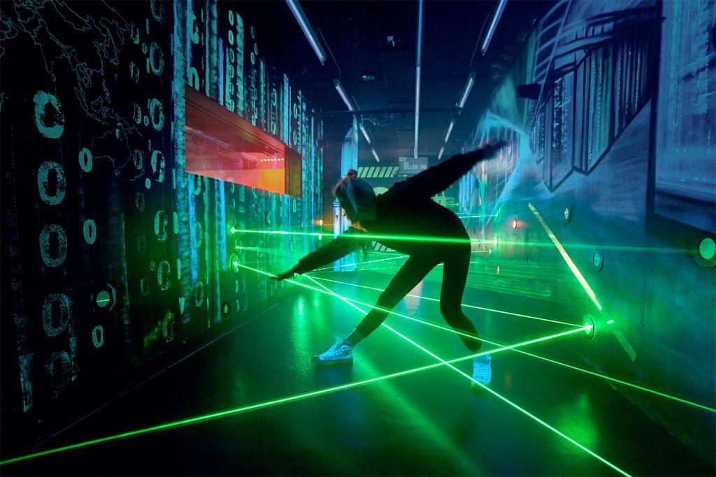 Interactive Laser Exhibit at German Spy Museum