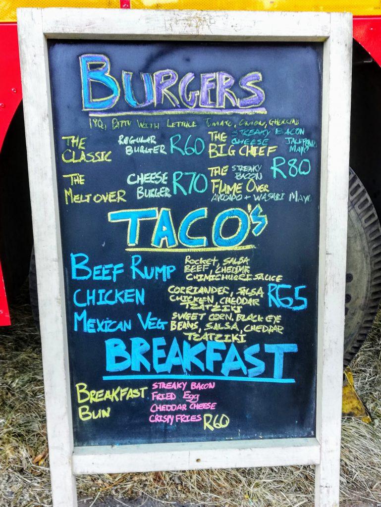 Engine 67 burger and taco menu