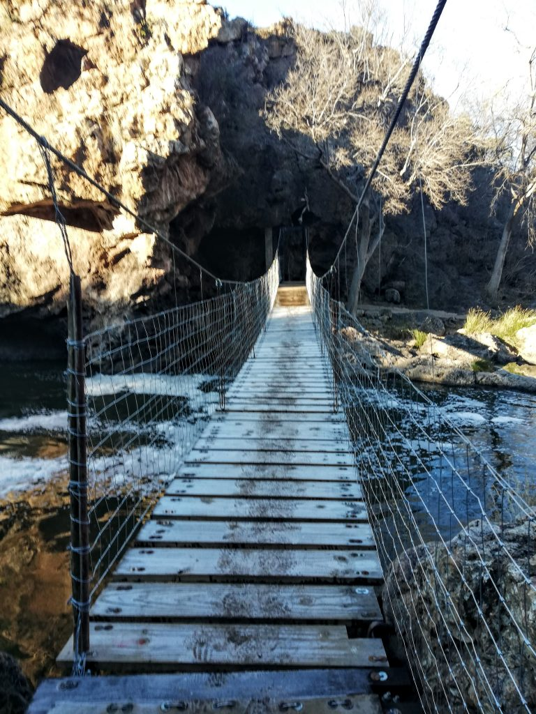 Krokodilberg trail suspended bridge Hennops