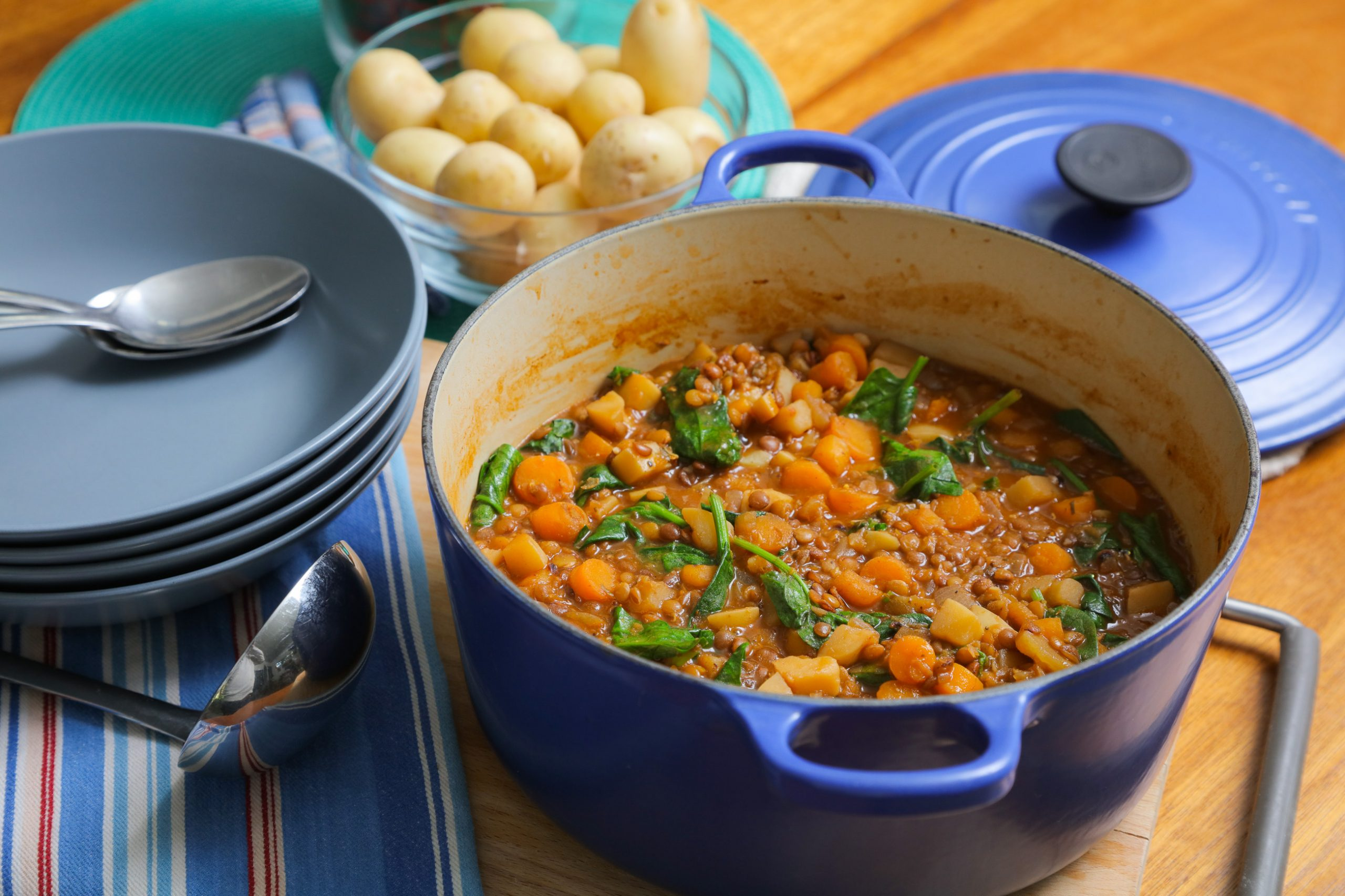 vegan lentil and vegetable stew recipe