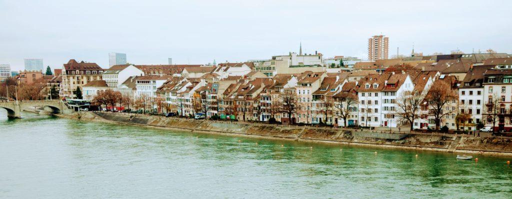 View across Rhine River Basel