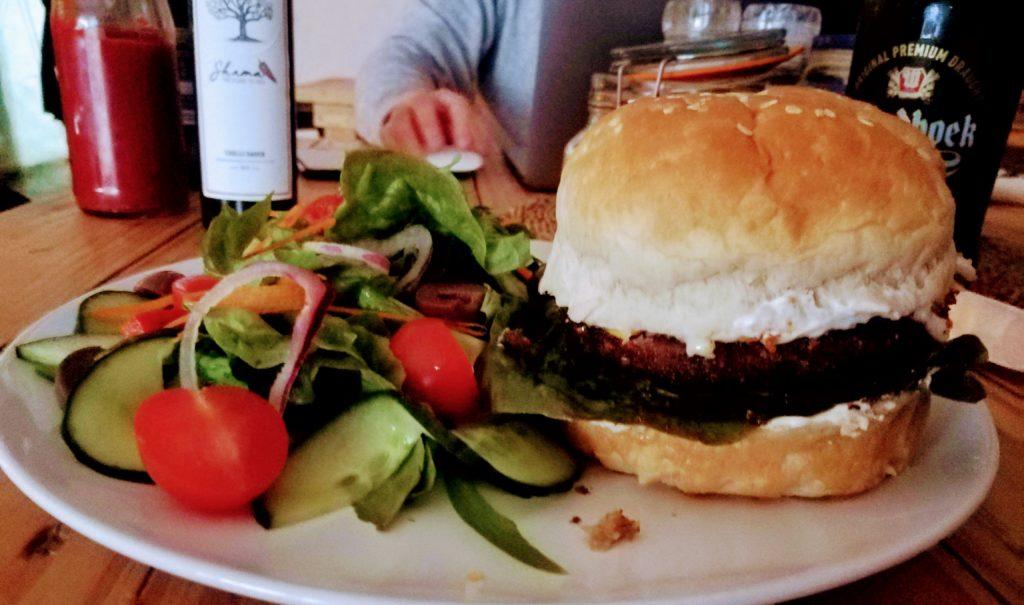 Vegan Meraki Burger at Magoebaskloof Farmstall