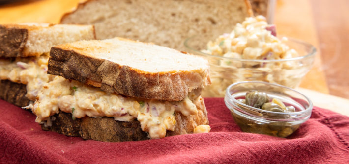 Vegan Chickpea Mayo Sandwich Recipe