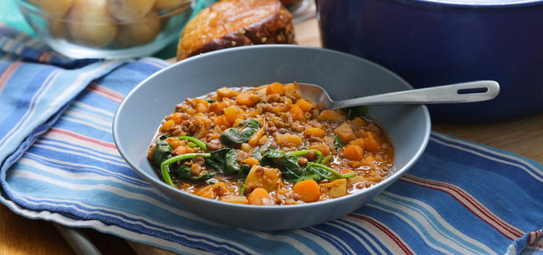 lentil and vegetable stew vegan budget recipe