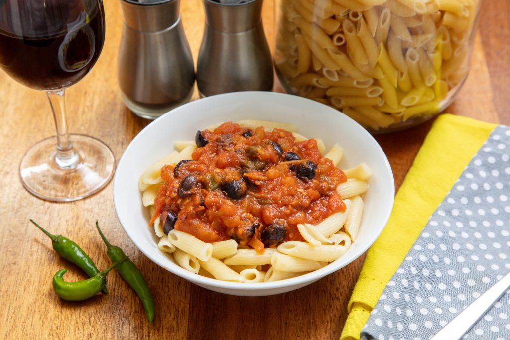 Pasta Puttanesca without anchovies