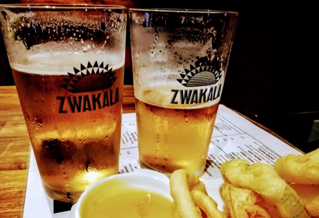 Zwakala beer at The Iron Crown