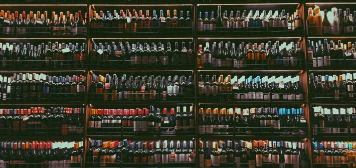 Wall of wine bottles | Katie Schenk | Ask Katie
